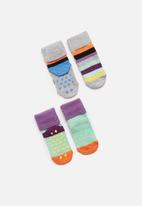 Happy Socks - 2-pack stripe anti-slip socks - multi