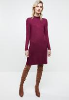 ONLY - Mila long sleeve knit dress - purple