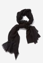 Cotton On - Maddie mid weight scarf - black