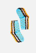 Brave Soul - Food 5 pack socks - multi