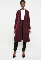 edit - Fit and flare coat - burgundy