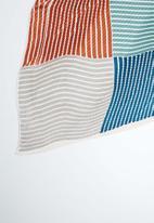 Joy Collectables - Stripe print bandana scarf - blue