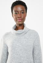 edit - Cowl neck jersey - grey