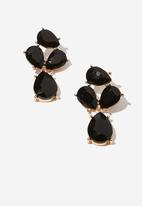 Cotton On - Maggie romance earring - black
