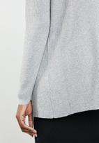 edit - Waterfall cardigan - grey