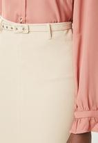 edit - Pencil skirt - beige