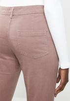 edit - Straight leg pants - purple