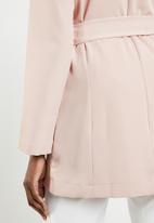 edit - Belted blazer - pink
