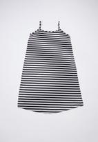 Rebel Republic - Frill detail summer dress - black