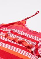 Rebel Republic - Frill detail summer dress - red