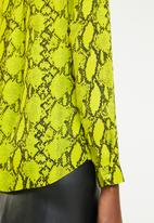 New Look - Snake print shirt - green & black
