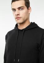 Superbalist - Printed tape pullover sweat hoodie - black