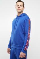 Superbalist - Printed tape pullover sweat hoodie - blue