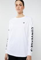Converse - Converse wordmark long sleeve tee - white