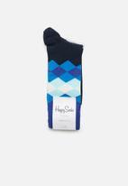Happy Socks - Faded diamond socks - navy
