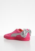 PUMA - Suede Bow Jr -fuschia