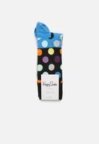 Happy Socks - Big dot block socks - multi