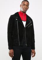 Jack & Jones - Jordane biker jacket noos - black