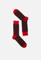 Happy Socks - Loveline socks - red & black