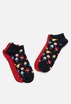 Happy Socks - 2-Pack ice cream low socks - multi