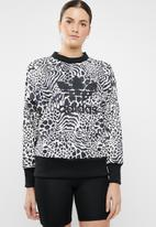 adidas Originals - Multi prints sweater - black & beige
