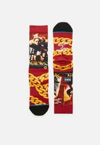 Stance Socks - Cuban linx socks - red & yellow
