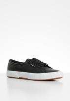 SUPERGA - 2750-Collarpad nappa leather - black
