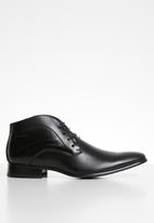 Gino Paoli - James formal lace-up boots - black