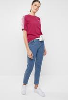 adidas Originals - 3 short sleeve stripe tee - pink