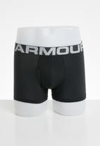 Under Armour - Charged cotton 3inch 3 pack boxer briefs- black