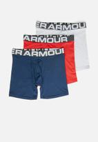 Under Armour - Charged cotton 6inch 3 pack boxer briefs- multi