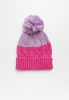 Cotton On - Winter knit beanie - pink & purple