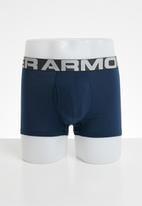 Under Armour - Charged cotton 3inch 3 pack boxer briefs- royal/academy