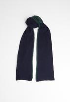 Superbalist - Colourblock scarf - navy & green
