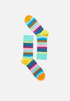Happy Socks - Multi stripe socks - multi