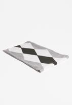 Superbalist - Diamond shape argyle scarf - grey & black