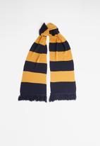 Superbalist - Broad stripe scarf - navy & tan