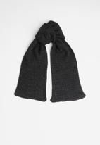 Superbalist - Moss stitch scarf - black & charcoal