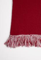 Superbalist - Slogan scarf - grey & red