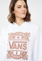 Vans - Cali native hoodie long sleeve top - white
