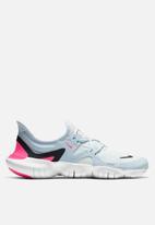 Nike - Free RN 5.0 - white/black-half blue-hyper pink