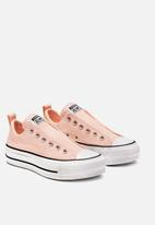 Converse - All Star Lift Slip - washed coral/white/black