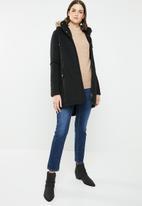 Brave Soul - Parka with trim detail - black