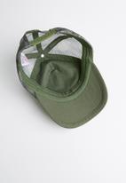 MINOTI - Baseball AOP camo peak cap - green