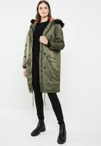Brave Soul - Longer length parka - khaki