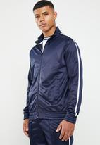 Superbalist - Side stripe tricot tracktop - navy