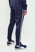 Superbalist - Tapered hemmed side stripe pintuck seam tricot pant - navy