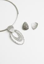 Joy Collectables - Necklace and earrings set - silver