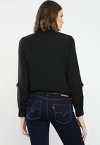 Jacqueline de Yong - Yenzo long sleeve shirt - black
