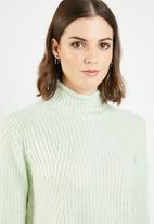 Jacqueline de Yong - Justy long sleeve roll edge pullover - green